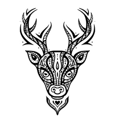 Deer head Ethnic pattern vector image vector image