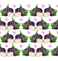 Eggplant seamless vector image
