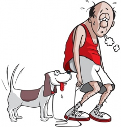 exhausted jogger vector image