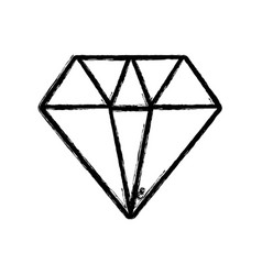 Figure diamond gem and crysral accesory vector