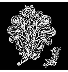 Floral design element renaissance style vector image