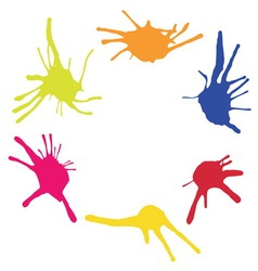 Frame from color blots vector