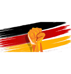 Germany flag independence painted brush stroke vector