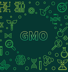 gmo colorful concept in vector image
