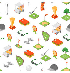 golf game equipment seamless pattern background vector image