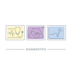 gynecology medical healthcare linear icon vector image