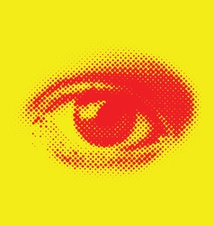 halftone eye vector image