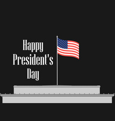 happy presidents day american flag on a building vector image
