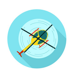 Helicopter icon summer vacation vector