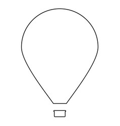 Hot air balloon the black color icon vector