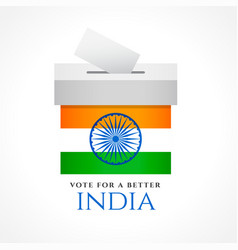 india vote concept design with flag vector image