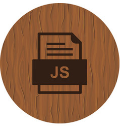 Js file document icon vector
