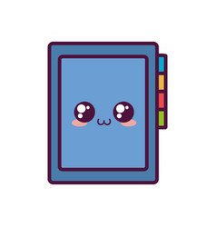 Kawaii notebook icon image vector