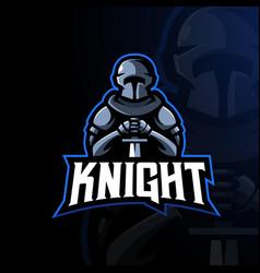 knight esport logo vector image