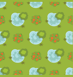 leaves green trees landscape top view vector image