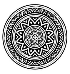 Mandala bohemian pattern creative zen vector