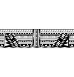 maori style sleeve tattoo vector image