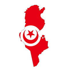 map flag tunisia vector image