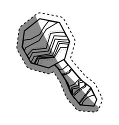 maracas music instrument vector image
