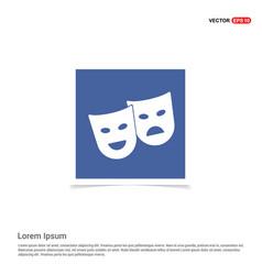 Mask icon - blue photo frame vector
