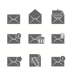 Message Icons Set vector image