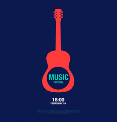 music abstract modern poster concert vector image