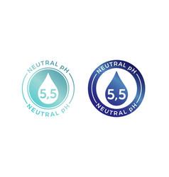 Neutral ph balance logo icon for shampoo or cream vector