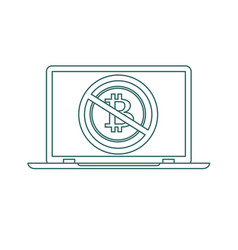 no cryptocurrency technology stock flat vector image