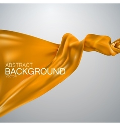 Orange silk fabric vector image