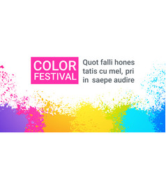 Paint splash color festival happy holi india vector