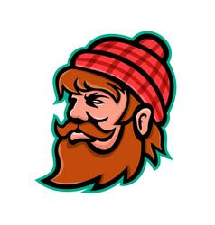 Paul bunyan lumberjack mascot vector