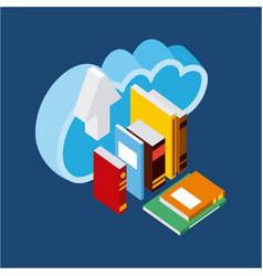 People cloud computing storage vector