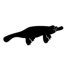Platypus or duckbill icon black color icon vector