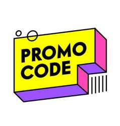 Promo code certificate template design gift vector
