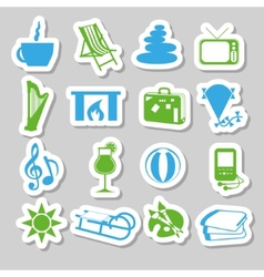 Relax stickers vector