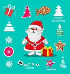 Retro Christmas Symbols - Icons Set vector image
