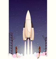 Rocket missile takeoff composition vector