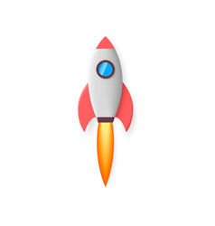 rocket space rocket launch project start up vector image