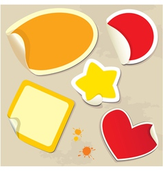 Set of different colors stickers vector image