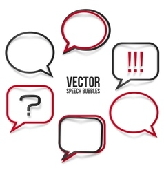 Set of realistic speech bubbles frames vector image
