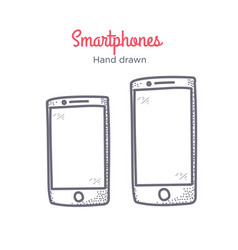 Smartphone hand drawn doodle icon vector