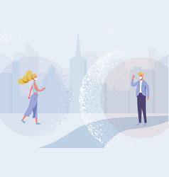 Social distance design concept vector