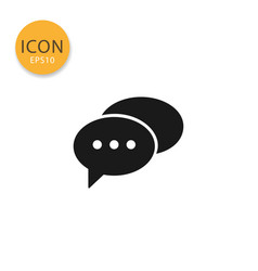 speech bubbles icon isolated flat style vector image