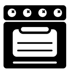 stove oven icon simple style vector image