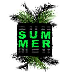 Summer slogan print tee graphic design t shirt vector