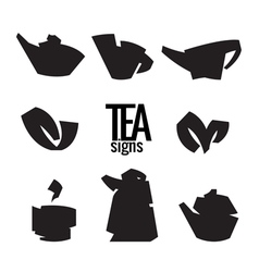 Tea Stylish elements from the folded strips vector
