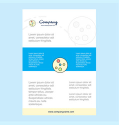 Template layout for bacteria plate comany profile vector