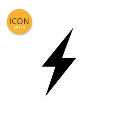 thunderbolt icon isolated flat style vector image
