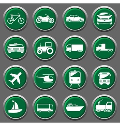 Transporter icons vector