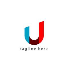 U letter logo template design vector